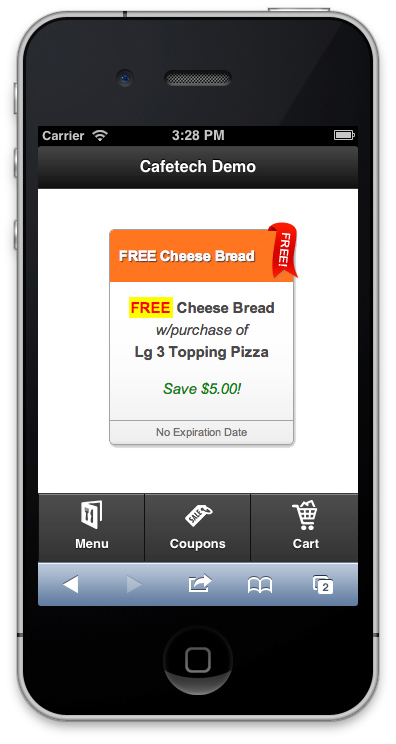 Cafetech online ordering system features mobile ordering for Discount mobili on line